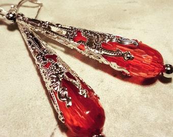 Pretty Peach Swarovski Crystal earrings