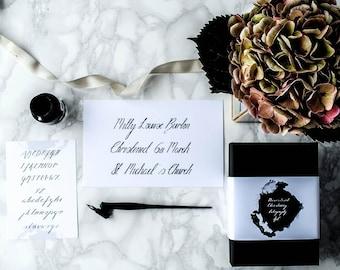 Personalised Christening Calligraphy Kit