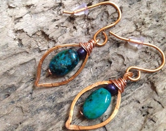 Copper Pod Earrings