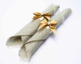 Set of 10 napkins for weddings,linen napkins, linen rustic wedding, Napkin Rings, flower napkin rings, Wedding Decor, rustic