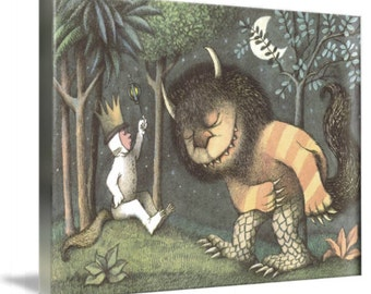 Where the Wild Things Are Large A1 Canvas