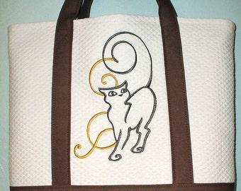 Art Nouveau Cat Tote Bag