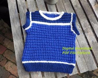 DIY Gift, Vest Knit Pattern, PDF File, Digital Download, Little Boy Gift, Little Girl Gift, most popular, Winter Cloths, unique gift