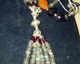 Multistoned semi precious necklace
