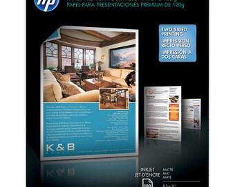 HP Premium Inkjet Matte Presentation Paper- 8.5 x 11 - 100 Sheets - HP D0Z55A