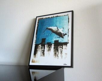 Great White Shark - Art - South Africa - Cape Town - Painting - Modern Art - signed - Stefan Bammert ArtWork - Fine Art Print