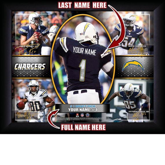 San Diego Chargers Draft: San Diego Chargers Personalized NFL Football Number One Draft