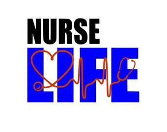Nurse Life Cutting Files Silhouette SVG, DXF and EPS vinyl cut Files, for Cameo and Cricut Explore machines