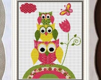 CROSS STITCH PATTERN Owl Nursery