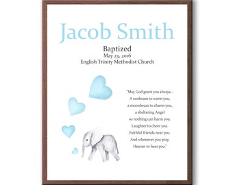 Christening Gift For Godson, Baby Baptism, Art From Godparents, Art For Baby Baptism