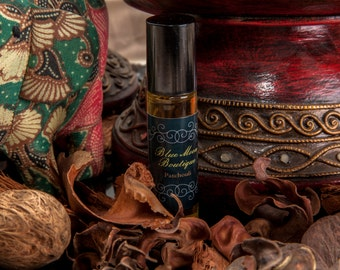 Pure Patchouli Phthalate Free Fragrance Oil+Coconut Oil+Roll On Perfume+10 ml. Bottle