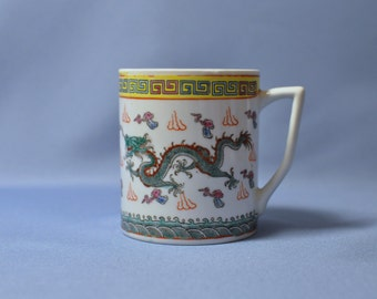 Fine old double dragons porcelain cup without cover DSC_00832