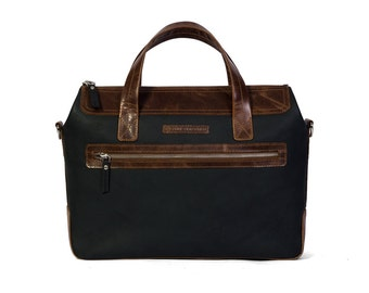 Leather, Laptop Bag, Office, Briefcase, Macbook, Slim, Urban, Leather