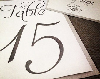 Event Table Numbers - Double Sided