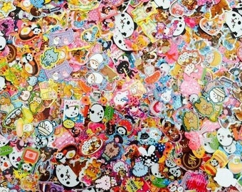 25 Random Kawaii Sticker Flakes