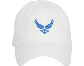 Royal US Air Force Embroidered Cotton Frayed Cap