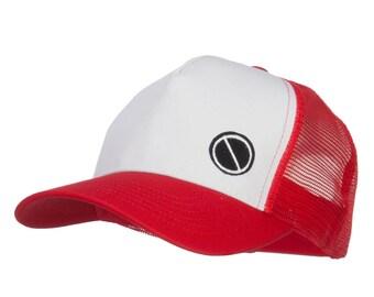 Poke Monster Red Logo Embroidered Mesh Cap