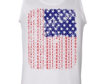 American Flag Aztec Tank Top 4th Of July USA Patriotic Gift Gym Workout 100076-TT
