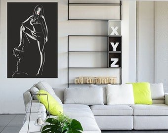 I love drums Wall decal, Music wall decal, Drums wall decal, Teens room wall decal, Wall decoration, Home decoration, Wall art 072