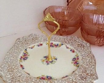 Totally Delightful Royal Winton Grimwades Original  Vintage Cake Stand