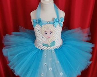 Tutu dress including Elsa motif