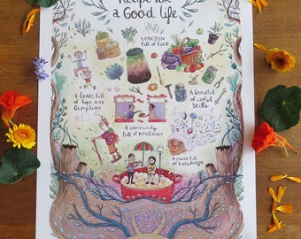 Recipe For A Good Life Poster