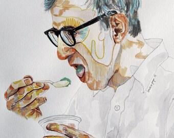 Woody Allen - Larraitz con Pompa - Fine Art Print