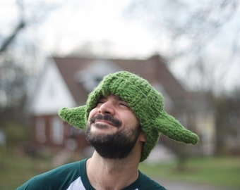 Adult Yoda Hat - warm and cozy!