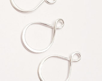 Sterling Silver Infinity Charm Holder Connector 20mm