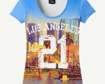 Los Angeles T-shirt, Los Angeles Shirt, Sunny City T-shirt, Sunny City Shirt, 21 T-shirt, 21 Shirt, Women's T-shirt, Women's Shirt