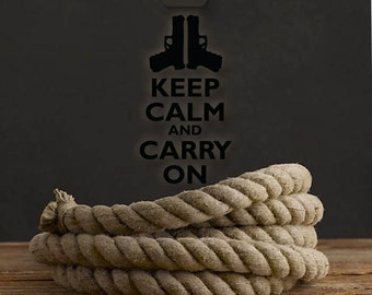 Keep Calm And Carry On Sticker, KCCO Decal, Keep Calm Stickers, Gun Decals, Keep Calm And Carry On Stickers, KCCO Stickers, Weapon Stickers