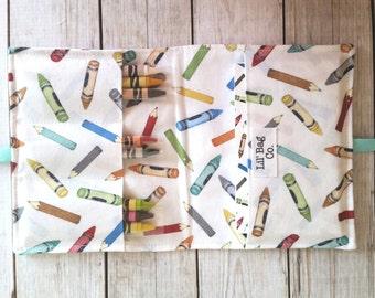 Crayon Caddy,Crayon Wallet,Crayon storage,Coloring book