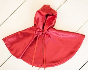 Red or Black Cape for Girls