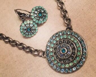 Medallion Blue Necklace
