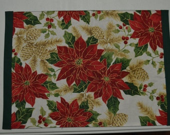 Christmas Poinsettia Placemats (set of 4)