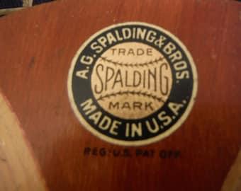 Rare A.G. Spaulding Bros. GENEVA Tennis Raquet 1900's Made in U.S.A.