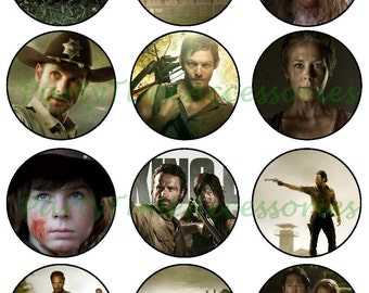 The Walking Dead (A) Edible Cupcake/Cookie Toppers for Birthday Party or other Special Occasion!