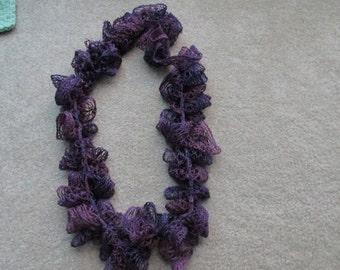 Purple lace scarf