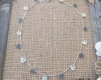 """Flower Buds Charm Necklace 18"""", 24"""", 30"""""""