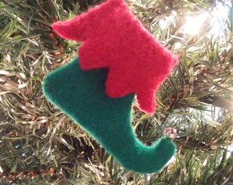 Christmas ornament Elf boot