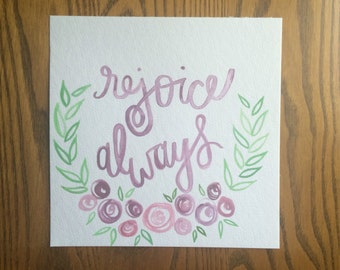 Rose Wreath- Rejoice Always