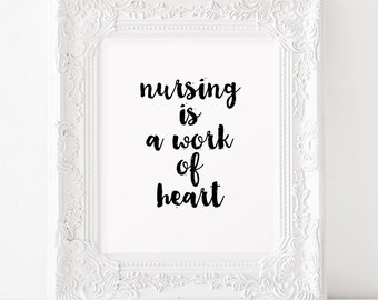 Nurse graduation gift Nurse preceptor gift Nurse practitioner gifts Nursing is a work of heart Nurse party Nurse gift ideas Graduation party