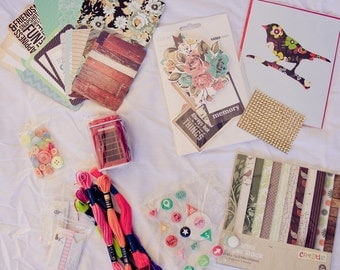 Destash of Scrapbooking Supplies