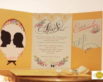 Elegant Unique Wedding Invitation