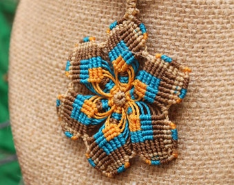Mandala necklace macrame