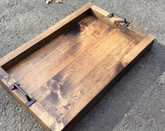 Rustic serving tray, Serving tray, Wood tray, Table tray, Tray, Rustic, Customizable