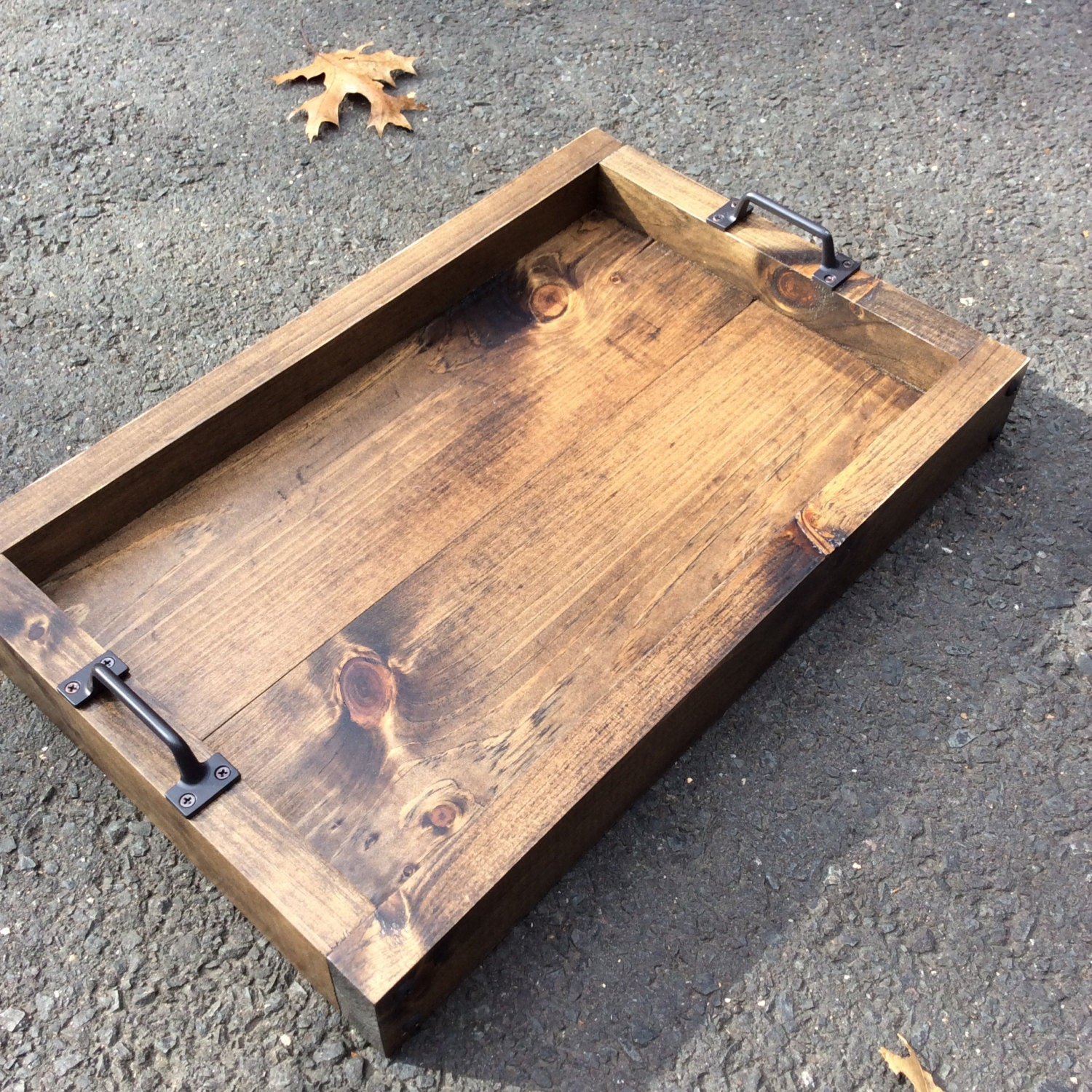 Rustic Serving Tray Serving Tray Wood Tray Table Tray