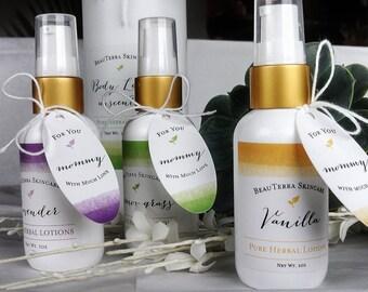 Moisturizing Body Lotion Set, Vanilla, Lavender, Carnation, Lemongrass Lotion Set, Lotion Gift Set, Herbal Lotion Gift Set