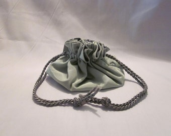 Jewellery Bag - Green Moire Taffeta