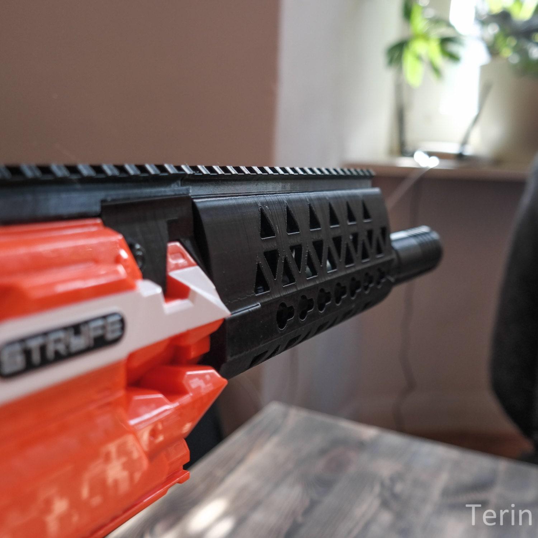Nerf Blaster Custom AR-15 Key Mod Handguard / Barrel-Extension